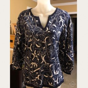 Navy and White Cathy Daniels Sweater